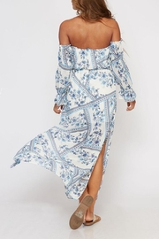 Peach Love California Floral Paisley Maxi - Front full body