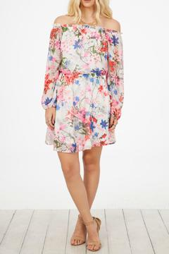 Peach Love California Floral Print Dress - Product List Image