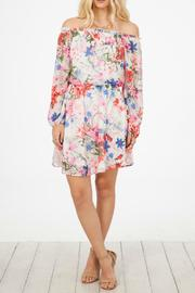 Peach Love California Floral Print Dress - Product Mini Image