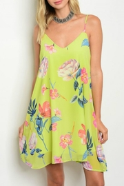 Peach Love California Floral Swing Dress - Front cropped