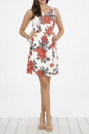 Peach Love California Floral Tank Dress - Front cropped