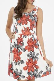 Peach Love California Floral Tank Dress - Product Mini Image