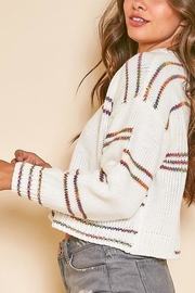 Peach Love California Graphic-Line Cropped Knit-Sweater - Other