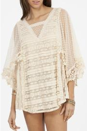 Peach Love California Lace Flowy Top - Front cropped