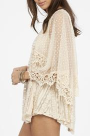 Peach Love California Lace Flowy Top - Side cropped