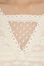 Peach Love California Lace Flowy Top - Back cropped