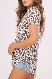 Peach Love California Leopard Print Top - Front full body