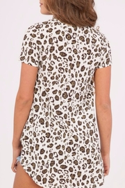 Peach Love California Leopard Print Top - Side cropped