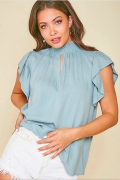 Peach Love California Mock Neck Top - Product List Image