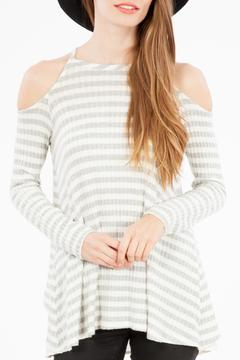 Peach Love California Open Shoulder Top - Product List Image