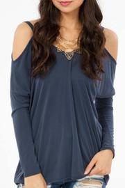 Peach Love California Open Shoulder Top - Product Mini Image