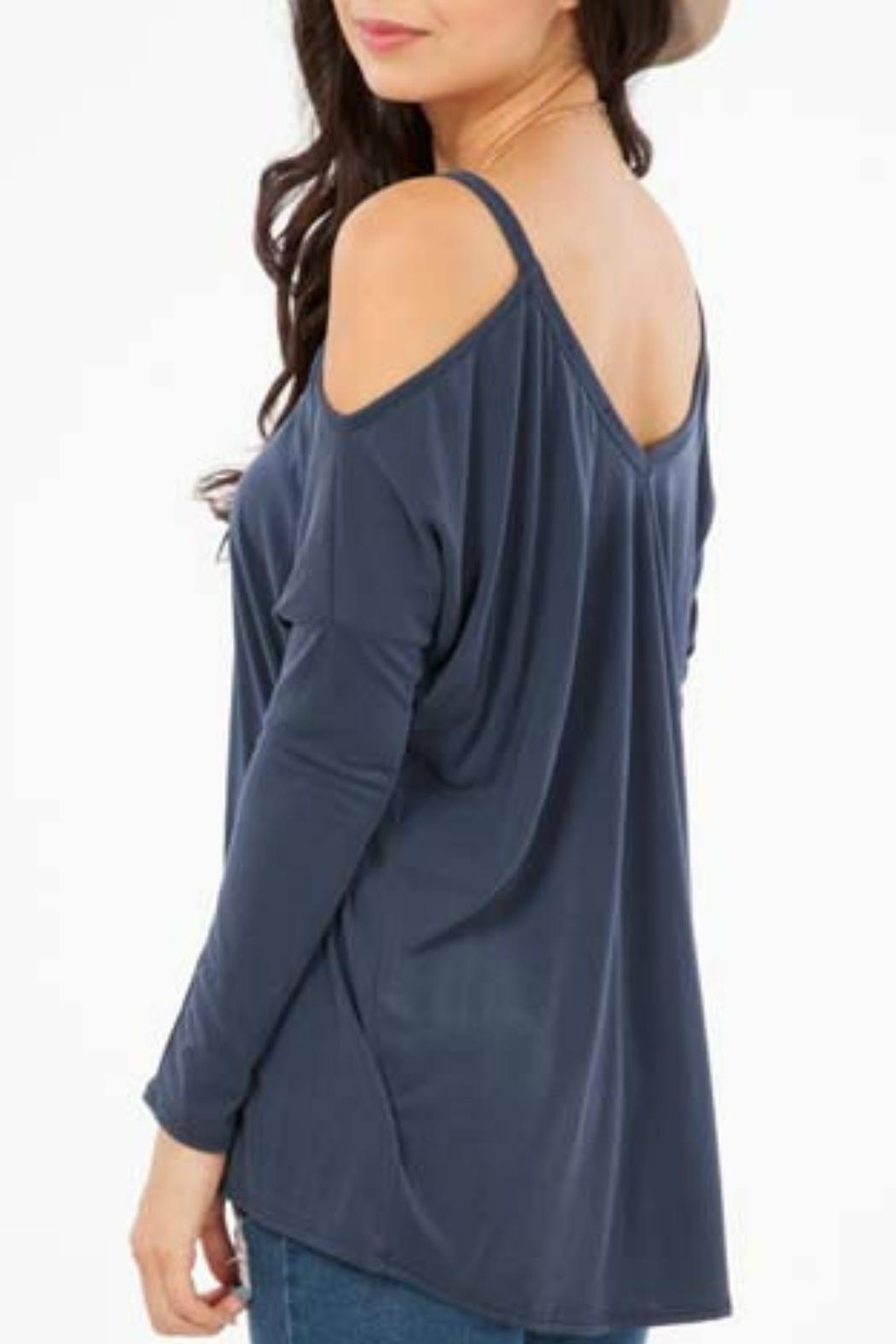 Peach Love California Open Shoulder Top - Front Full Image