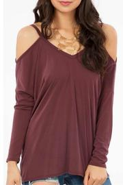 Peach Love California Open Shoulder Top - Front cropped