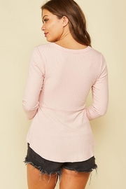Peach Love California Ribbon-Tie Front Top - Back cropped