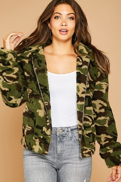 Peach Love California Sherpa Camo Jacket - Product List Image
