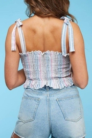 Peach Love California Smocked Top - Side cropped