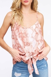 Peach Love California Snake Print Tank - Front cropped