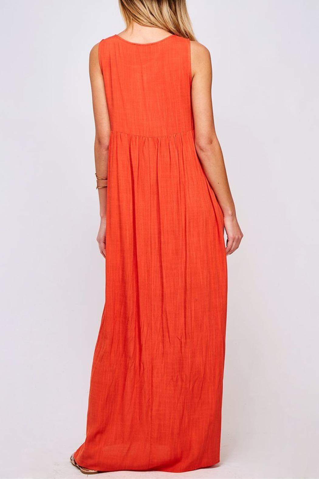 Peach Love California Solid Maxi Dress - Front Full Image