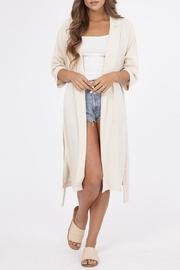 Peach Love California Solid Woven Jacket - Front cropped