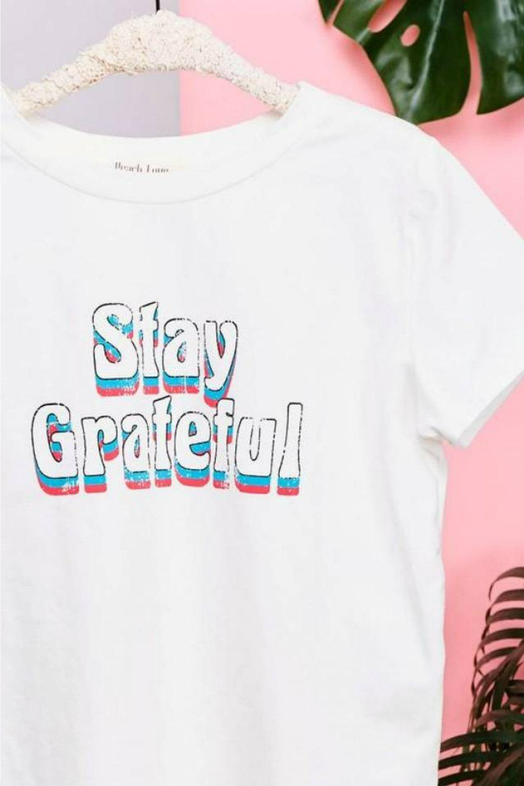 Peach Love California Stay Grateful Tee - Front Full Image