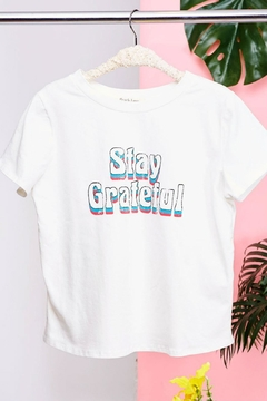 Peach Love California Stay Grateful Tee - Product List Image