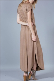 Peach Love California Suede Maxi Dress - Side cropped