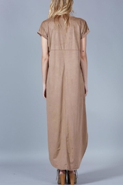 Peach Love California Suede Maxi Dress - Back cropped