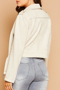 Peach Love California Suedette Moto Jacket - Product List Image