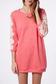 Peach Love California The Olivia Sweatshirt Dress - Product Mini Image