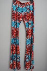 Peach Love California Tie-Dye Mosaic Bell-Bottoms - Front cropped