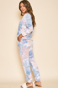 Peach Love California Tie Dye Printed Pants - Alternate List Image