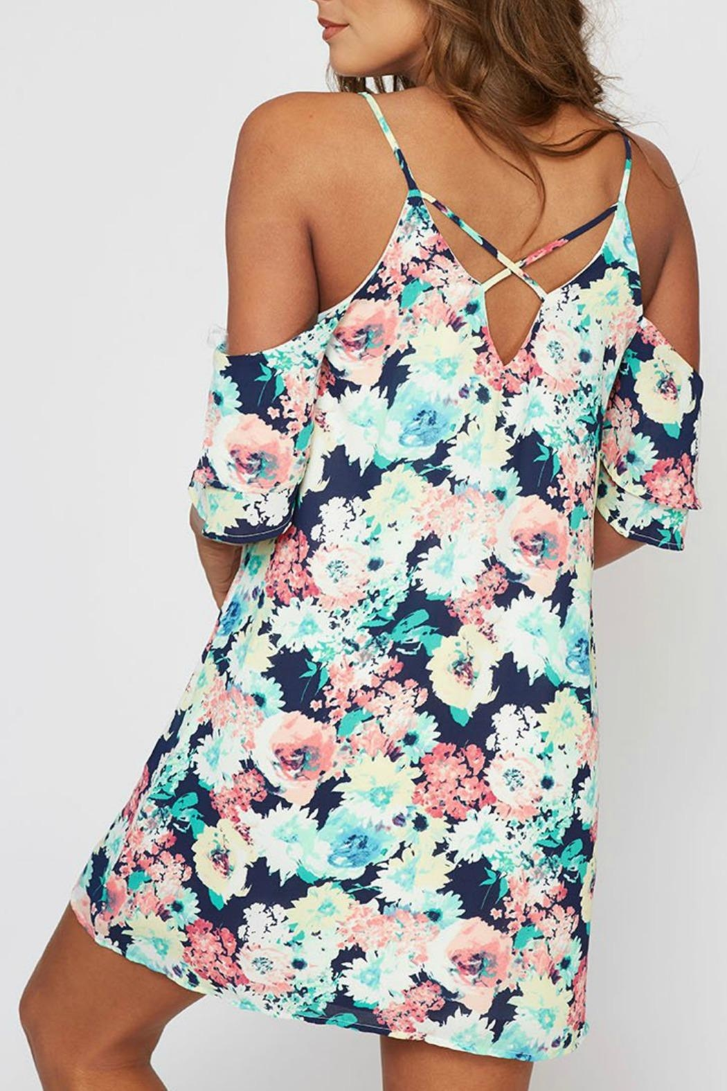 Peach Love California Veronica Floral Dress - Front Full Image