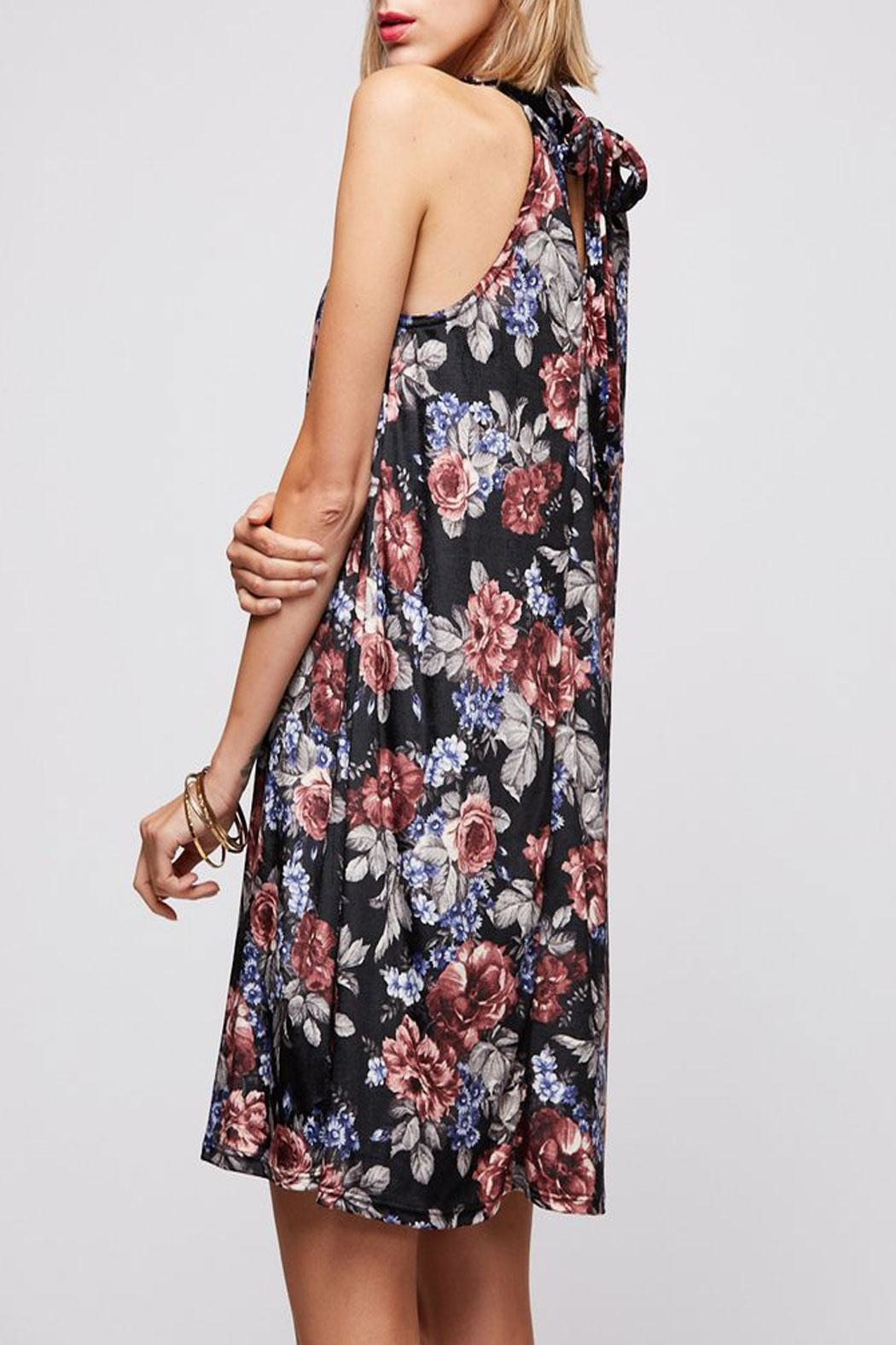 Peach Love California Yuni Floral Dress - Front Full Image