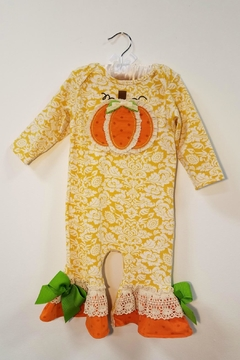 Peaches 'N Cream Harvest Pumpkin Romper - Product List Image