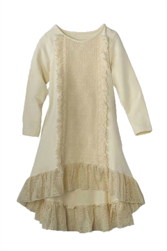 Peaches 'N Cream High-Low Lace Dress - Product List Image