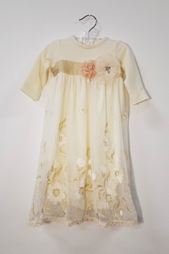 Peaches 'N Cream Ivory Lace Layette Gown - Product List Image