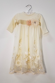 Peaches 'N Cream Ivory Lace Layette Gown - Product Mini Image