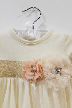 Peaches 'N Cream Ivory Lace Layette Gown - Alternate List Image