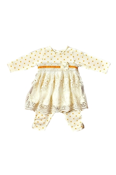 Peaches 'N Cream Ivory-Polka-Dot Tunic-Legging Set - Alternate List Image