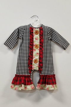 Peaches 'N Cream Tartan Plaid Baby Romper - Product List Image