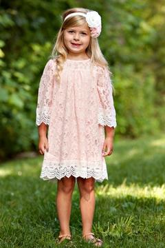 Peaches 'N Cream Girls Lace Dress - Product List Image
