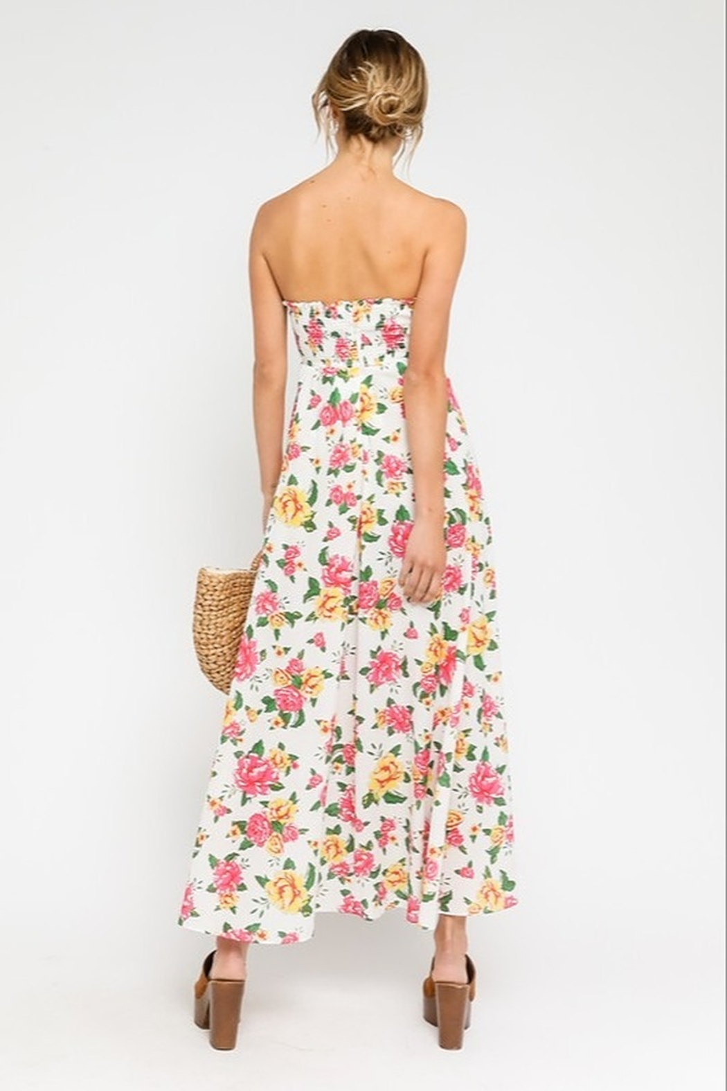 Olivaceous  Peachy Keen Maxi Dress - Side Cropped Image