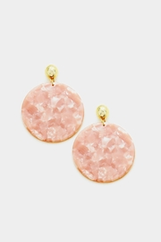 Embellish Peachy Pink Earrings - Front cropped