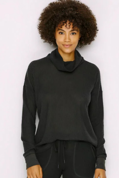 PJ Salvage Peachy Waffle Knit Turtleneck Lounge Top - Product List Image