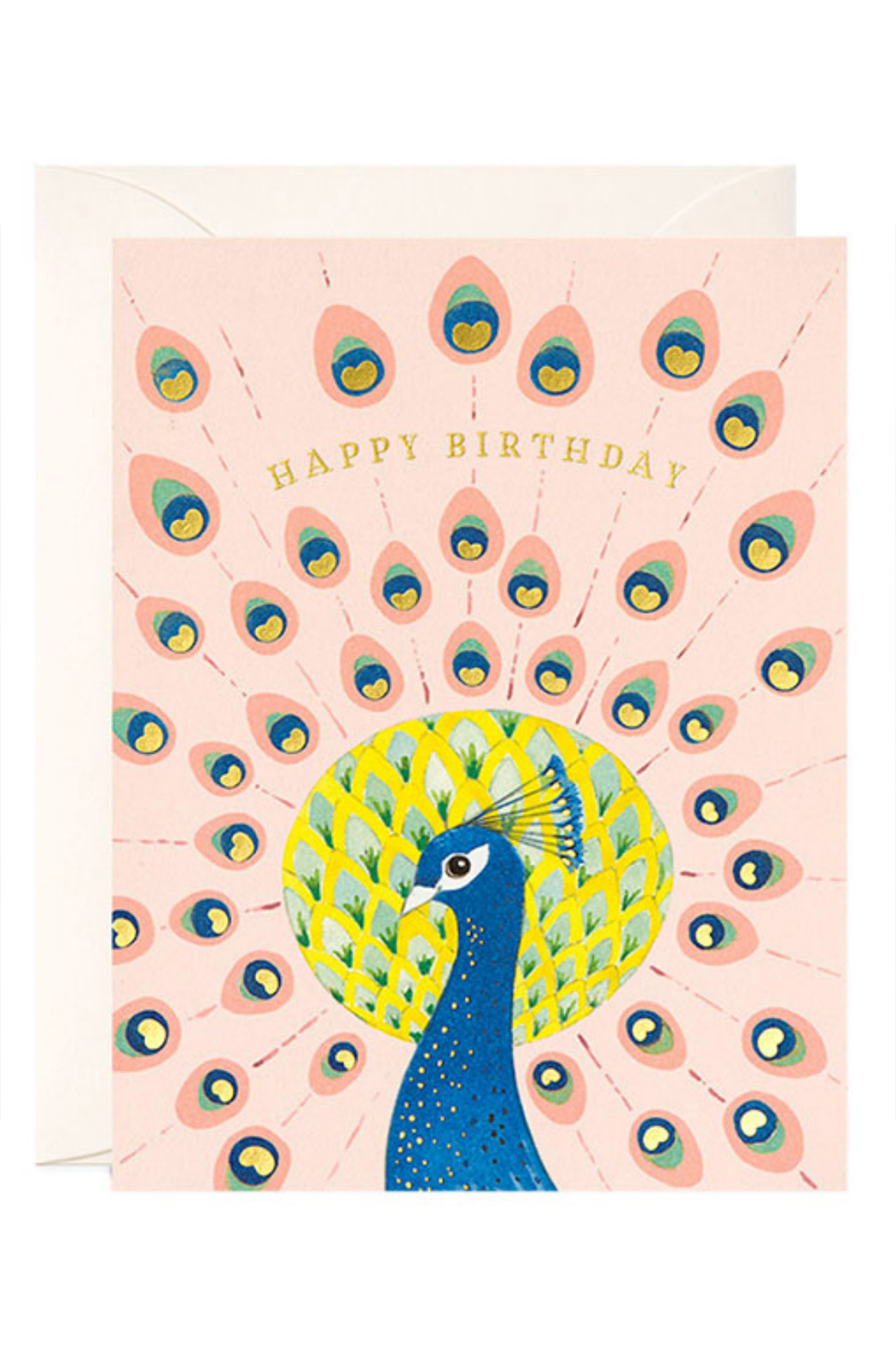 JooJoo Paper Peacock Birthday Card - Front Cropped Image
