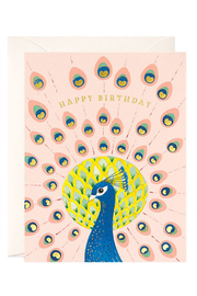 JooJoo Paper Peacock Birthday Card - Front cropped