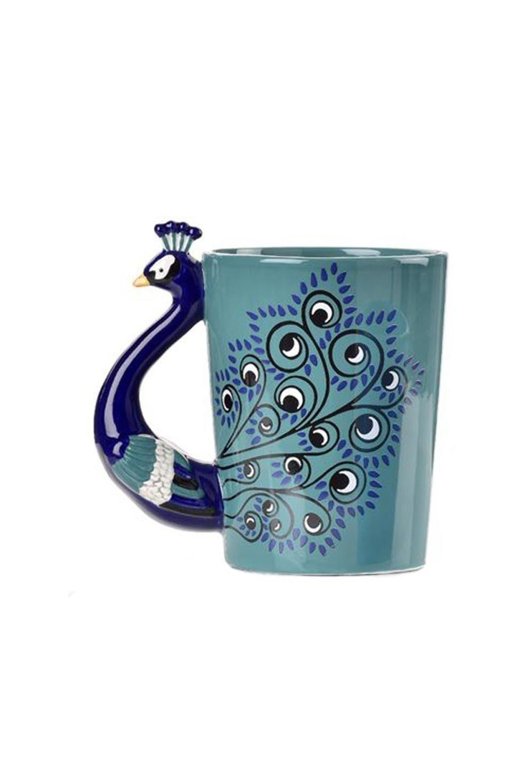 Giftcraft Inc.  Peacock Coffe Mug - Front Cropped Image