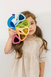 Tender Leaf Toys Peacock Colors Set - Side cropped