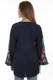 Scully Peacock Embroidered Blouse - Front full body