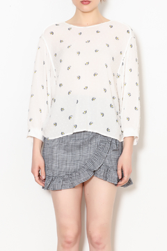 Lush Clothing  Peacock Floral Blouse - Product List Image